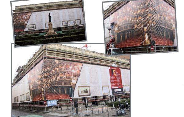 Maxitelo 800 mq copertura Teatro Bibiena