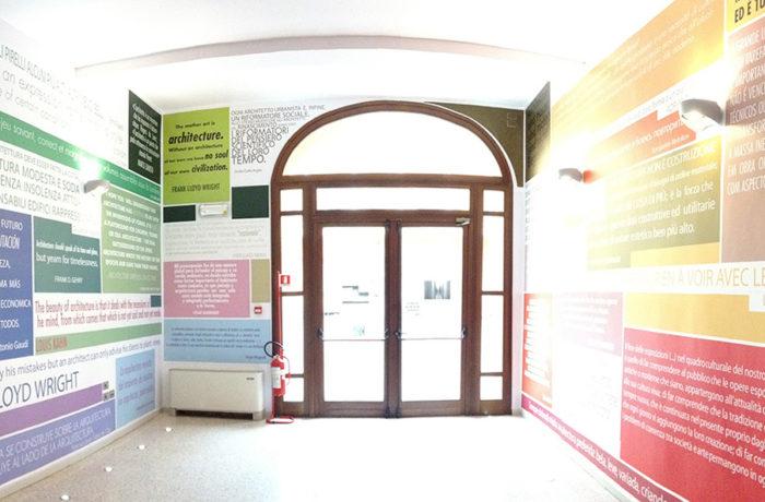 Decorazione murale sede distaccata di mn del politecnico for Interior design politecnico di milano