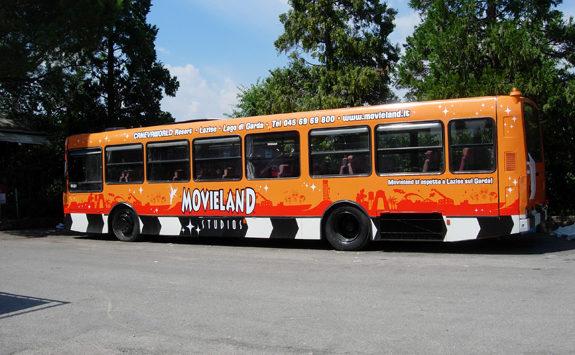 Decorazione parziale autobus