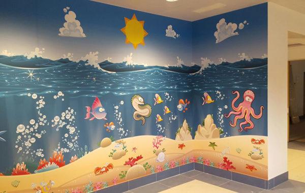 Decorazione sala d'aspetto pediatria