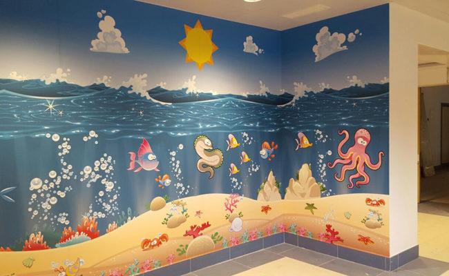 Decorazione sala d'aspetto pediatria dell'Ospedale di Villafranca (VR)