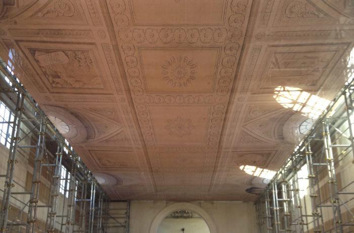 Copertura soffitto Biblioteca del Polirone di S.Benedetto Po