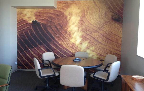 Decorazione murale per azienda