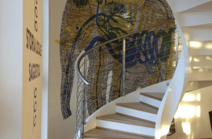 Decorazione murale Biblioteca di Melzo